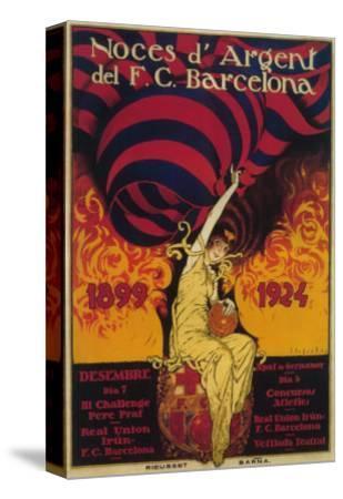 Barcelona, Spain - Soccer Promo Poster