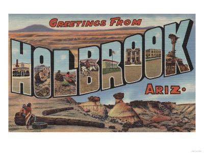 Holbrook, Arizona - Large Letter Scenes