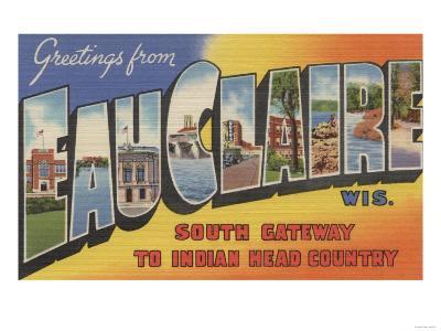 Eau Claire, Wisconsin - Large Letter Scenes
