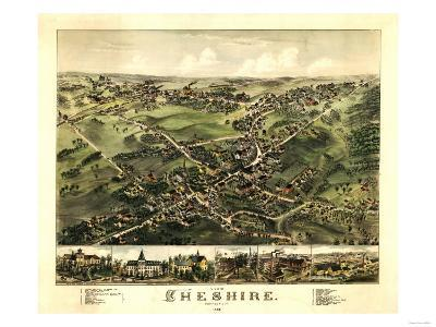 Cheshire, Connecticut - Panoramic Map