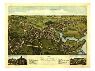 Clinton, Connecticut - Panoramic Map
