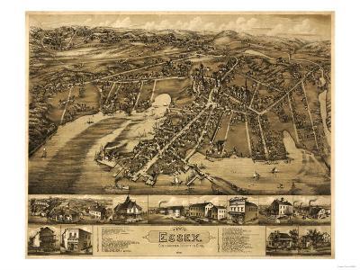 Essex, Connecticut - Panoramic Map