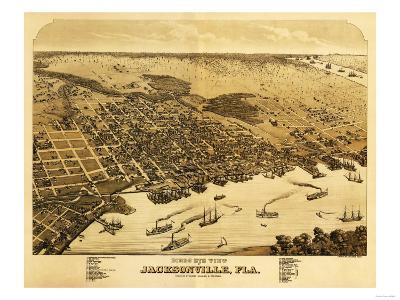 Jacksonville, Florida - Panoramic Map
