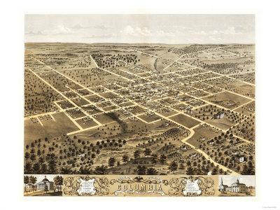 Columbia, Missouri - Panoramic Map