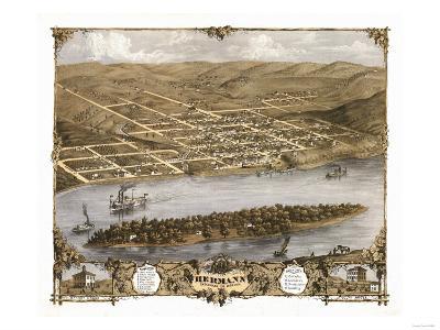 Hermann, Missouri - Panoramic Map
