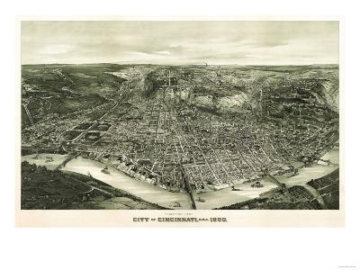 Cincinnati, Ohio - Panoramic Map