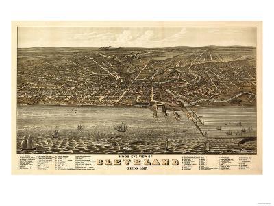 Cleveland, Ohio - Panoramic Map