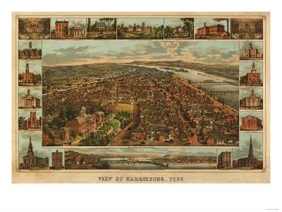 Harrisburg, Pennsylvania - Panoramic Map