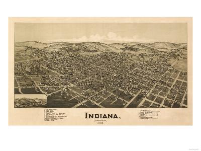Indiana, Pennsylvania - Panoramic Map