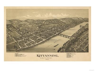 Kittanning, Pennsylvania - Panoramic Map