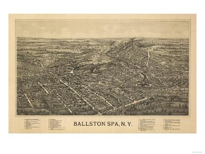 Ballston Spa, New York - Panoramic Map