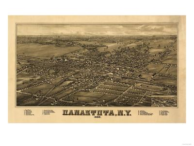 Canastota, New York - Panoramic Map