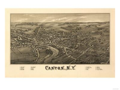 Canton, New York - Panoramic Map