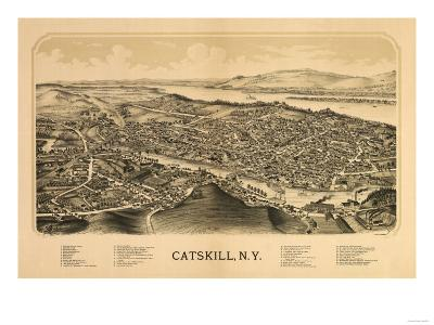 Catskill, New York - Panoramic Map