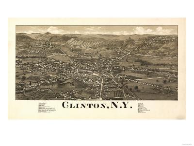 Clinton, New York - Panoramic Map