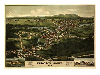 Bridgton, Maine - Panoramic Map