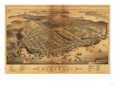 Eastport, Maine - Panoramic Map