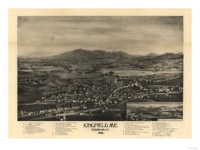 Kingfield, Maine - Panoramic Map