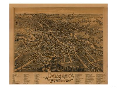 Dover, New Hampshire - Panoramic Map