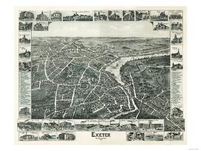 Exeter, New Hampshire - Panoramic Map