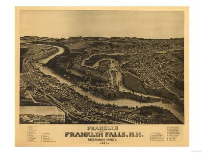 Franklin, New Hampshire - Panoramic Map