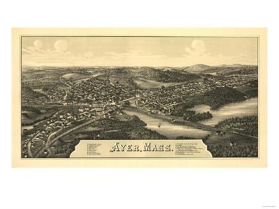Ayer, Massachusetts - Panoramic Map