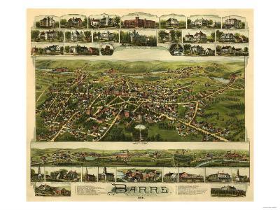 Barre, Massachusetts - Panoramic Map