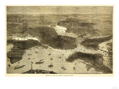 Boston, Massachusetts - Panoramic Map No. 1