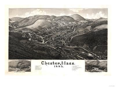 Chester, Massachusetts - Panoramic Map