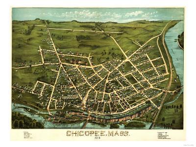 Chicopee, Massachusetts - Panoramic Map