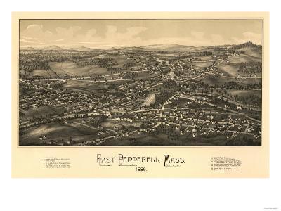 East Pepperell, Massachusetts - Panoramic Map