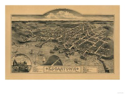 Edgartown, Massachusetts - Panoramic Map