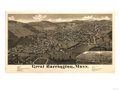 Great Barrington, Massachusetts - Panoramic Map