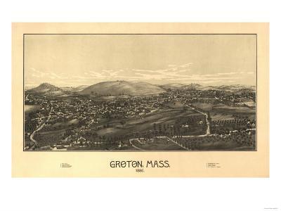 Groton, Massachusetts - Panoramic Map