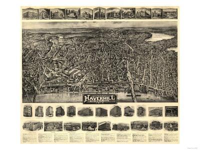 Haverhill, Massachusetts - Panoramic Map