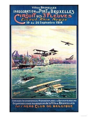 Brussels, Belgium - Cancelled Float Plane Promotional Poster