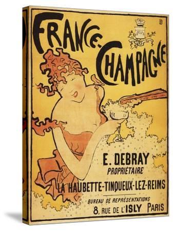 Champagne, France - E. Debray Champagne Advertisement Poster