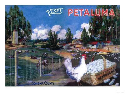 Petaluma, California - World's Egg Basket Poster