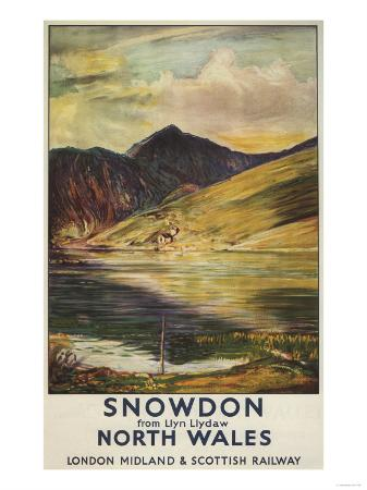 North Wales, England - Snowdon Mountain View Railway Poster
