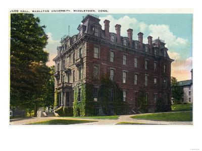 Middletown, Connecticut - Exterior View of Judd Hall, Wesleyan University