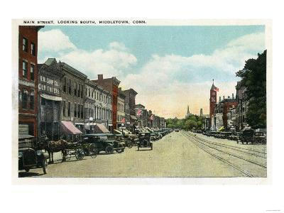 Middletown, Connecticut - Southern View Down Main Street