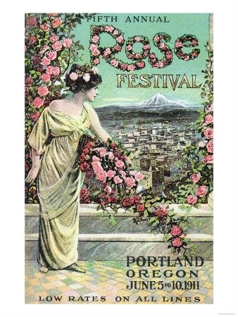 Portland, Oregon - Fifth Annual Rose Festival Advertisement
