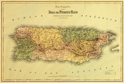 Puerto Rico - Panoramic Map