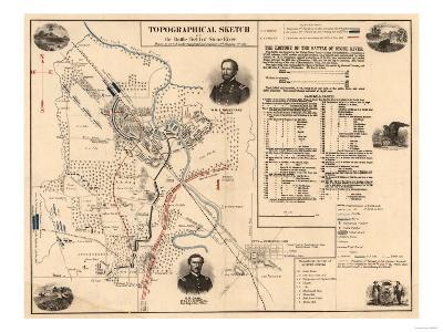 Battle of Stones River - Civil War Panoramic Map