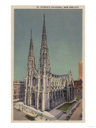 New York, NY - St. Patricks Cathedral Surroundings