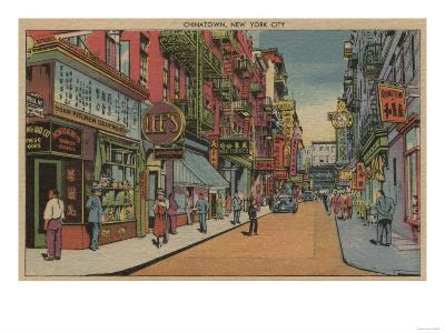 New York, NY - View of Chinatown Shops