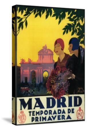Madrid, Spain - Madrid in Springtime Travel Promotional Poster