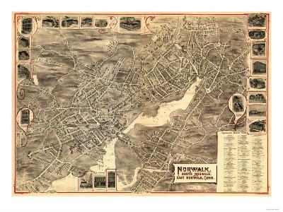 Norwalk, Connecticut - Panoramic Map