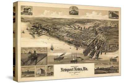 Newport News, Virginia - Panoramic Map