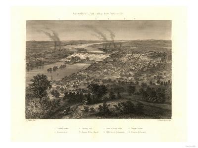 Richmond, Virginia - Panoramic Map